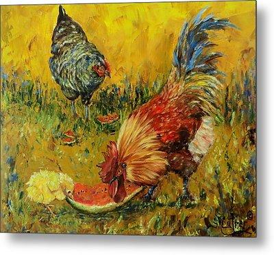 Sweet Pickins, Chickens Metal Print