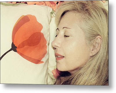 Sweet Poppy Dreams Metal Print by Laurie Search