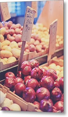 Sweet Red Onions Metal Print