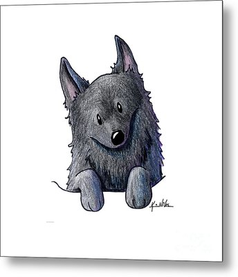 Sweet Schipperke Metal Print by Kim Niles