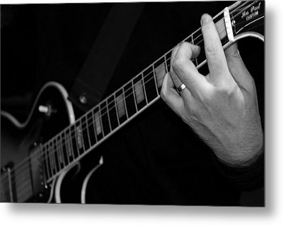 Metal Print featuring the photograph Sweet Sounds In Black And White by John Stuart Webbstock