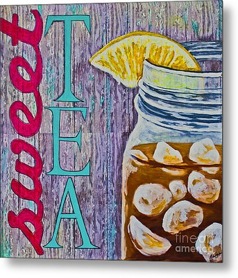 Metal Print featuring the mixed media Sweet Tea by Melissa Sherbon