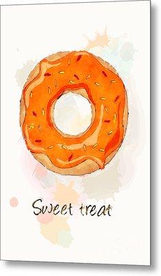 Sweet Treat Orange Metal Print