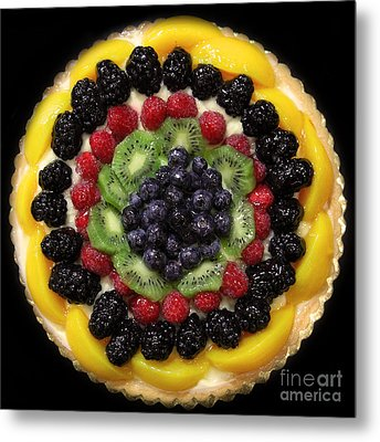 Sweet Treats - Fruit Cake - 5d20920 - Square Metal Print by Wingsdomain Art and Photography