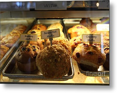Sweet Treats - Muffins - 5d20535 Metal Print by Wingsdomain Art and Photography