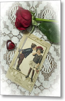 Sweet Valentine Couple Metal Print by Wayne Meyer