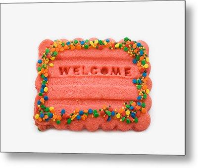 Sweet Welcome Mat Metal Print