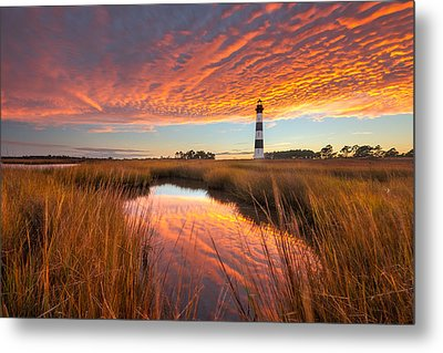 Swept Away - Bodie Island Lighthouse Metal Print
