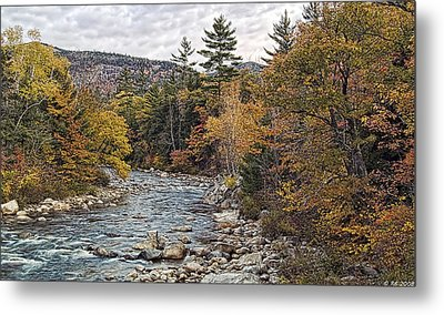 Metal Print featuring the photograph Swift River Autumn  by Richard Bean