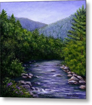 Metal Print featuring the painting Swift River by Sandra Estes