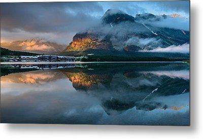 Swiftcurrent Lake Sunrise Metal Print by Dan Mihai