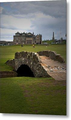 Swilken Bridge Vignette St Andrews Old Course Scotland Metal Print by Sally Ross