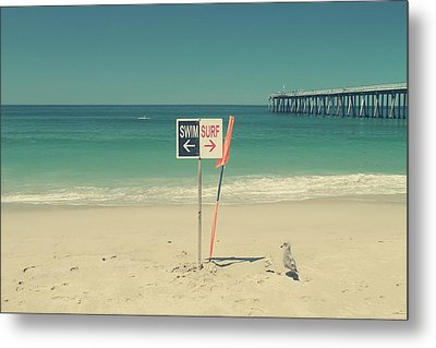 Swim And Surf Metal Print by Laurie Search