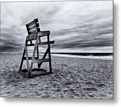 Swim At Your Own Risk Metal Print by Mark Miller