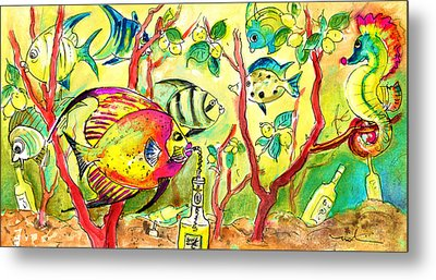 Swimming In A Sea Of Limoncello Metal Print by Miki De Goodaboom