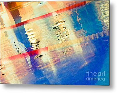 Swimming Pool 01b - Abstract Metal Print by Pete Edmunds