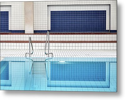 Swimming Metal Print by Renate Reichert