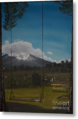 Swing On Mt Hoods Fruit Loop Metal Print
