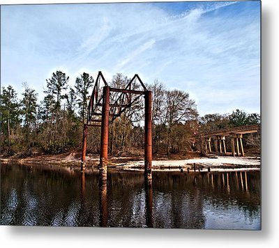 Metal Print featuring the photograph Swing Set by Laura Ragland