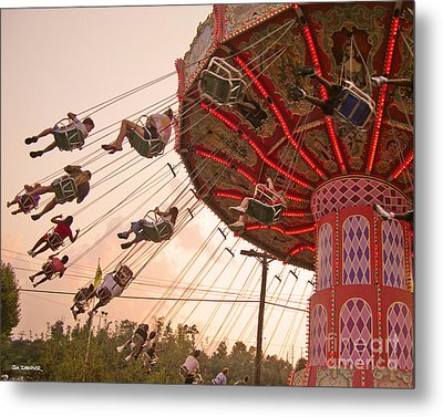 Swings At Kennywood Park Metal Print by Carrie Zahniser