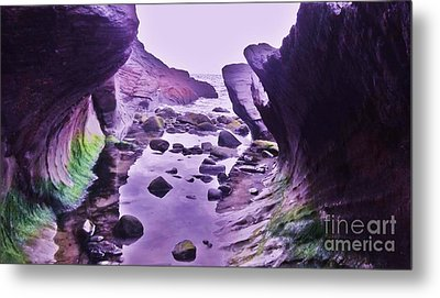 Metal Print featuring the photograph Swirl Rocks 2 by John Williams
