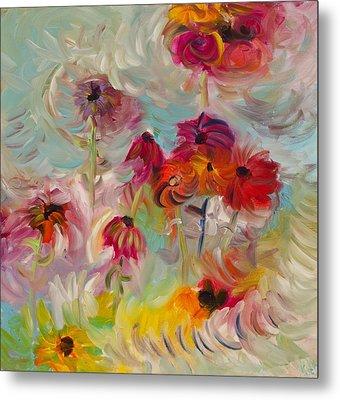 Swirling Flowers Metal Print by Jim Tucker
