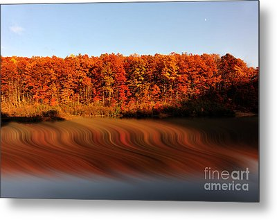 Swirling Reflections With Fall Colors Metal Print by Dan Friend