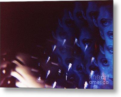 Swirls In Dark - Fine Art Analog 35mm Film Photographic Portrait Metal Print by Edward Olive