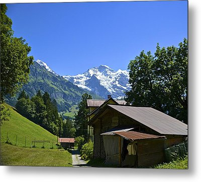 Swiss Hike Metal Print by Marty  Cobcroft