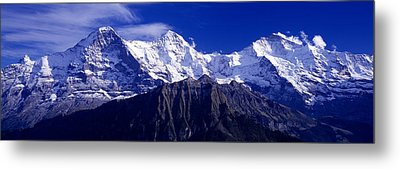 Swiss Mountains, Berner, Oberland Metal Print by Panoramic Images