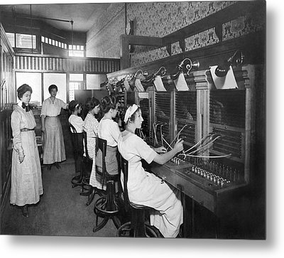 Switchboard Operators Metal Print by Underwood Archives