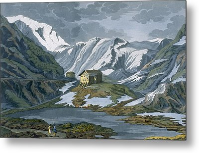 Switzerland Hospice Of St. Bernard Metal Print by Italian School