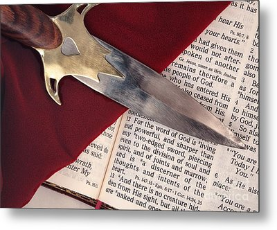 Sword Of The Spirit Metal Print by Pattie Calfy