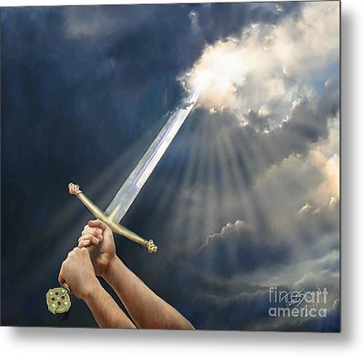 Sword Of The Spirit Metal Print by Tamer and Cindy Elsharouni