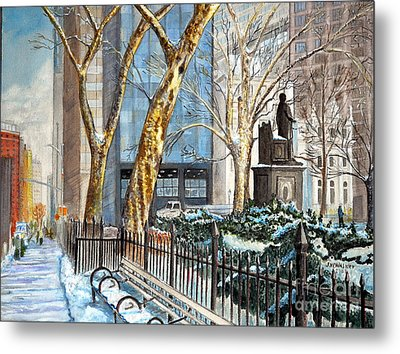 Sycamores Madison Square Park Metal Print by John W Walker