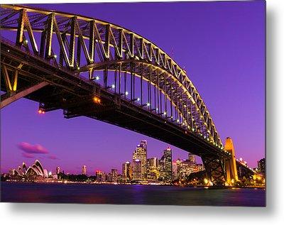 Sydney At Night Metal Print