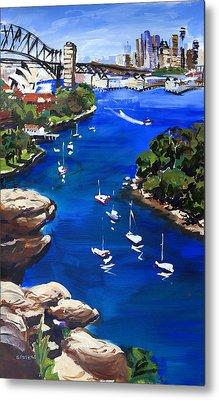 Sydney Harbour Boats Metal Print