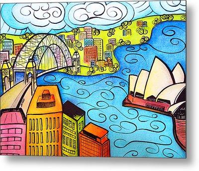 Sydney Harbour  Metal Print by Oiyee At Oystudio