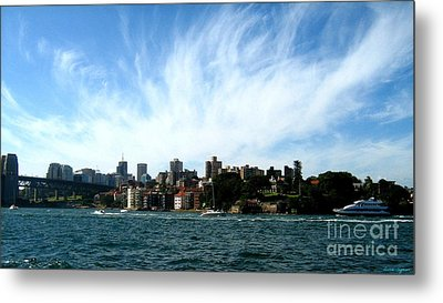 Metal Print featuring the photograph Sydney Harbour Sky by Leanne Seymour