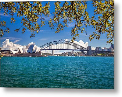 Sydney Harbour Skyline 2 Metal Print