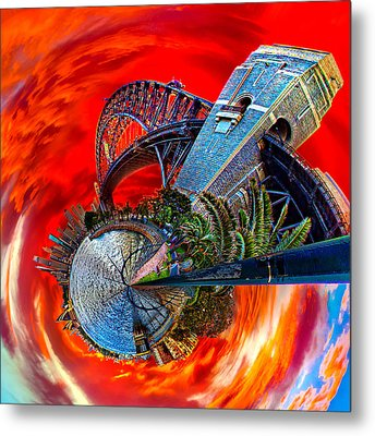 Blazing Skies Over Sydney Metal Print by Az Jackson