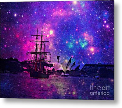 Sydney Harbour Through Time And Space Metal Print by Leanne Seymour