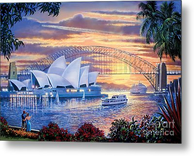 Sydney Opera House Metal Print by Steve Crisp