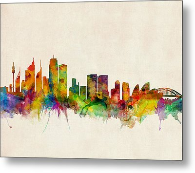 Sydney Skyline Metal Print by Michael Tompsett