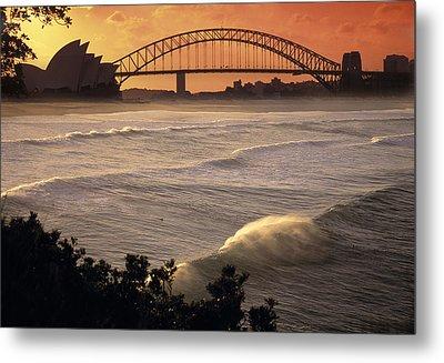 Sydney Surf Time Metal Print