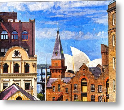 Sydney The Rocks And Opera House Metal Print by Colin and Linda McKie