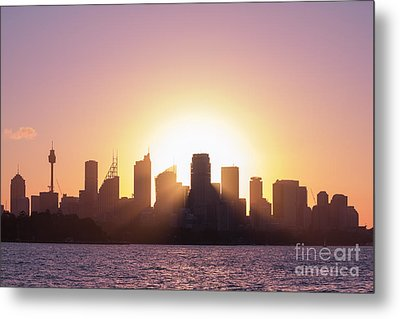 Metal Print featuring the photograph Sydney's Evening by Jola Martysz