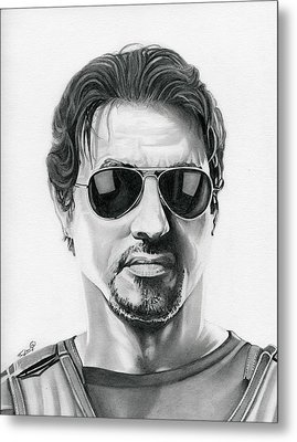 Sylvester Stallone - The Expendables Metal Print