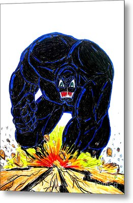 Metal Print featuring the drawing Symbiote Guy by Justin Moore