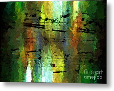 Metal Print featuring the digital art Forest Figures by Lon Chaffin